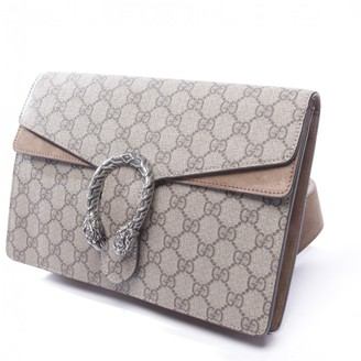 Gucci Dionysus Brown Cloth Clutch bags