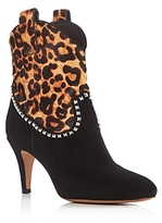 Marc Jacobs Georgia Studded Leopard Print High Heel Booties