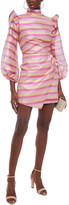 Thumbnail for your product : Paper London Spice Ruffled Printed Satin-crepe Mini Dress