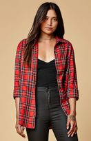 Motel Rocks Plaid Button-Down Boyfriend Shirt