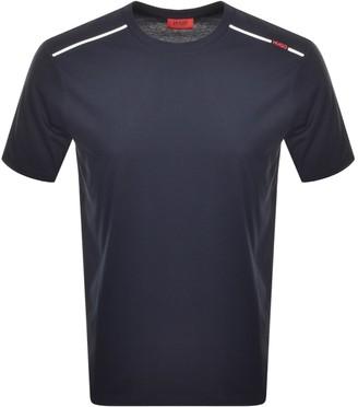 HUGO BOSS Dyrtid Crew Neck Short Sleeve T Shirt Navy