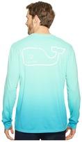 Vineyard Vines Long Sleeve Dip-Dyed Vintage Whale Pocket T-Shirt Men's T Shirt