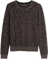 Banana Republic Petite Metallic Leopard Sweater