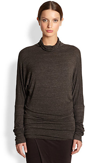 Rick Owens Lilies Mock Neck Knit Top