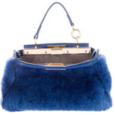 Fendi Shearling Micro Peekaboo Bag w/ Tags