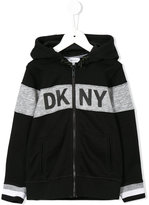 DKNY logo print hoodie - kids - Cotton/Polyester - 4 yrs