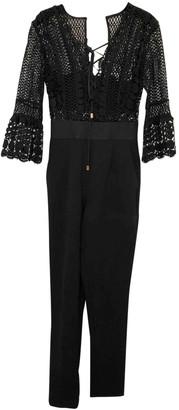 Self-Portrait Black Polyester Jumpsuits