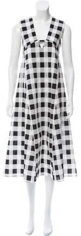 Derek Lam Silk-Blend Plaid Dress
