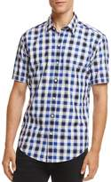 HUGO BOSS Boss Robb Short Sleeve Checked Button-Down Slim Fit Shirt