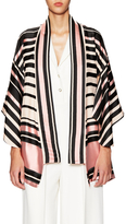 Temperley London Short Shore Stripe Kimono