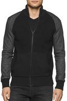 Calvin Klein Jeans Zip-Front Ribbed Sweatshirt