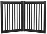 Dynamic Accents Freestanding Pet Gate 32 Inch 2 Panel Black