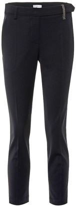 Brunello Cucinelli Embellished mid-rise skinny pants