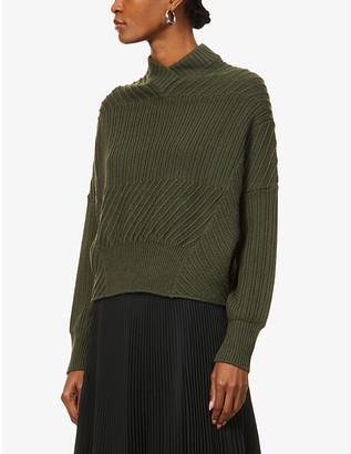 Sportmax Festoso contrasting-panel wool jumper