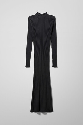 Weekday Nicola Knitted Dress - Black
