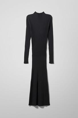Weekday Nicola Knitted Dress - Black