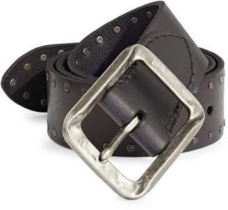 John Varvatos Studded Leather Belt