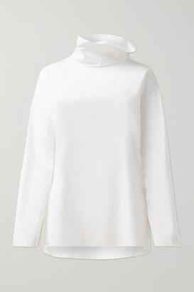 Akris Cotton-poplin Turtleneck Top - White