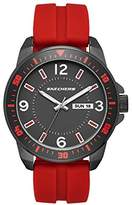 Skechers Men's Quartz Metal and Silicone Casual Watch, Color:Red (Model: SR5079)