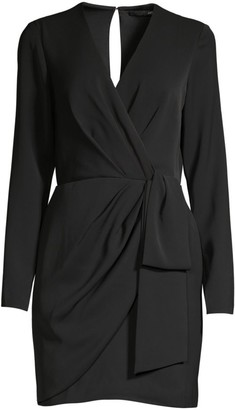Jay Godfrey Meyer Ruched Long-Sleeve Mini Sheath Dress