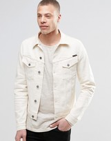 Nudie Jeans Nudie Billy Denim Jacket In Dry Twill Ecru