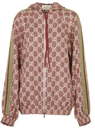 Gucci GG Supreme hooded jacket