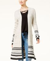 Almost Famous Juniors' Belted Duster Cardigan
