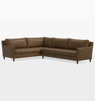 Rejuvenation Hastings Studio Sectional Leather Sofa - Right Arm