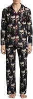Marvel Notch Collar Pj Sets Deadpool Pant Pajama Set