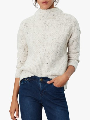 Joules Joyce Cable Knit Jumper, Off White