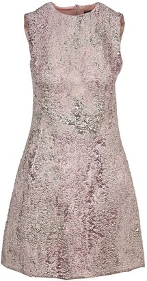 Dolce & Gabbana Lurex Jacquard Short Dress