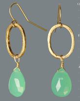 green briolette earrings