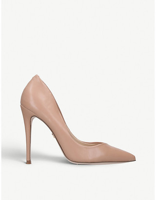 Kurt Geiger Nude Alyx Faux Patent-Leather Courts High-Heel Shoes