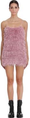 Laneus Dress In Rose-pink Wool