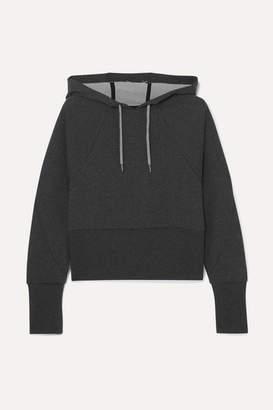 Nike Cropped Dri-fit Fleece Hoodie - Charcoal