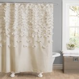 Lush Decor Lucia Shower Curtain, 72-Inch by 72-Inch, Ivory