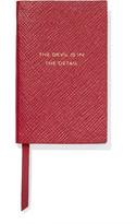 Smythson Panama The Devil Is In The Detail Textured-leather Notebook - one size