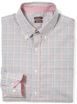 J.Mclaughlin West End Trim Fit Shirt in Lined Mini Check