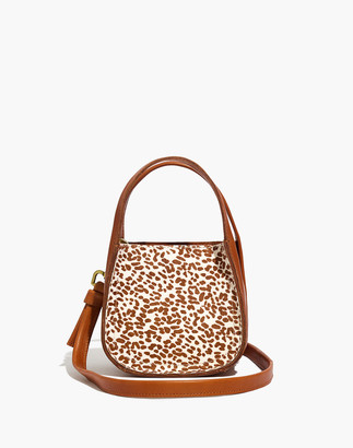 Madewell The Micro Sydney Crossbody Bag in Animal Spotted Calf Hair
