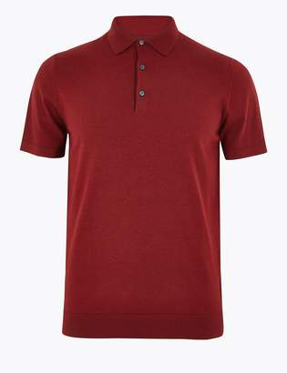 Toms M&S CollectionMarks and Spencer Cotton Rich Knitted Polo