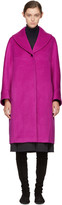 Jil Sander Navy Pink Oversized Wool Coat