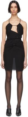 Nensi Dojaka SSENSE Exclusive Black Silk 11 Dress