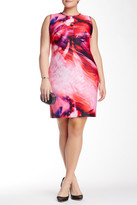 Julia Jordan Printed Sleeveless Dress (Plus Size)