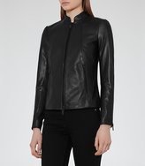 Reiss Serge Slim-Fit Leather Jacket