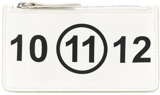 Maison Margiela logo zipped card holder