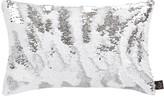 Aviva Stanoff Two Tone Mermaid Sequin Cushion - White/Silver - 30x45cm