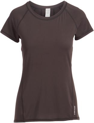Head Women's Tee Shirts BLACK - Black Mesh-Panel Coastal Tonal Crewneck Tee - Women