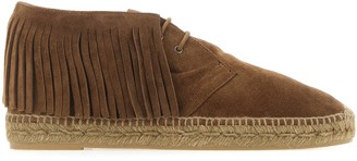 Saint Laurent Mid Top Fringed Espadrilles