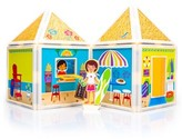 Girl's Build And Imagine Day At The Beach 54-Piece Magnetic Dollhouse