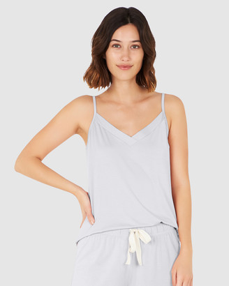 Boody Organic Bamboo Eco Wear - Women's Blue Sleepwear - Goodnight Sleep Set - Cami and Pants - Dove - Size One Size, XS at The Iconic